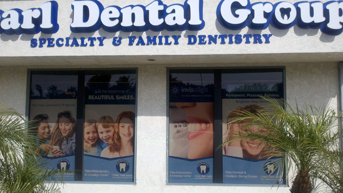Digitally Printed Solar Screen Roller Shade for Dental Office
