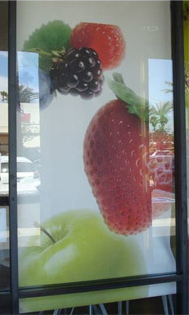 Digitally Printed Solar Screen Roller Shade for Restaurant